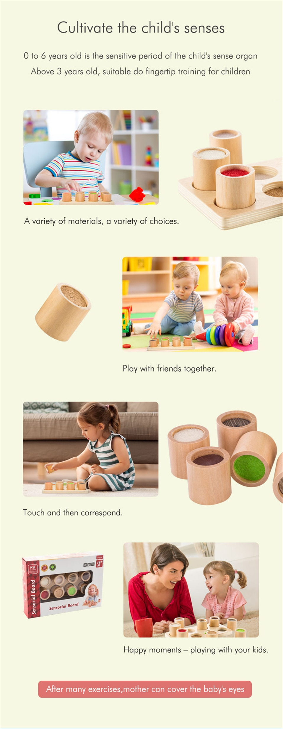 Kid's Tactile Montessori Toy