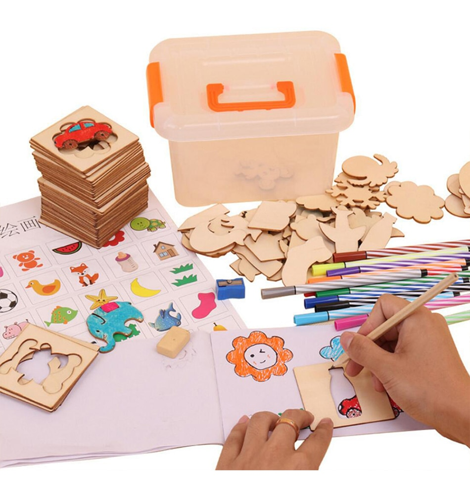 Kid's Creative Drawing Tools 100 Pcs Kit