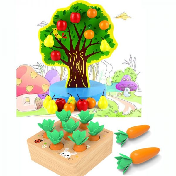 Wooden Magnetic Fruit Tree